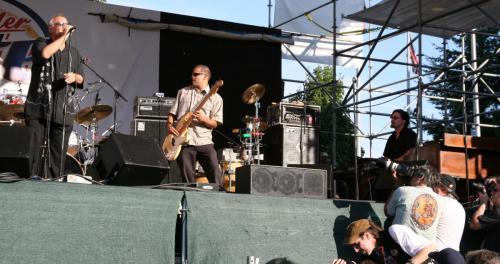 With the Curtis Salgado band
